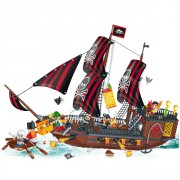 Blocs construction bateau pirate