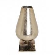 Vase sur pied métal doré-rose - H 34cm