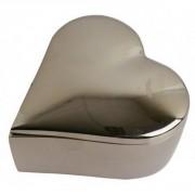 Écrin forme cœur en aluminium 10cm