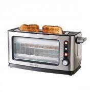 Grille-pain vitré en alu brossé
