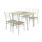 Table de cuisine vintage et 4 chaises