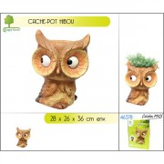 Cache-pot décor hibou