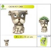 Cache-pot décor chien
