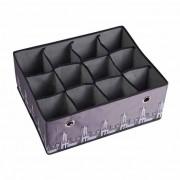Boîte de rangement tiroir 12 cases
