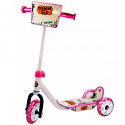Trottinette 3 roues rose
