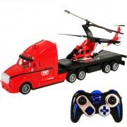 Camion et hélicoptère télécommandé