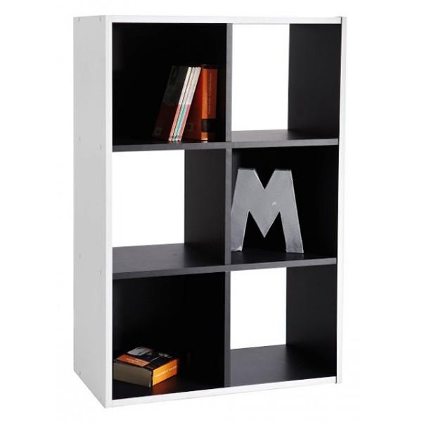 Meuble 6 cases noir et blanc
